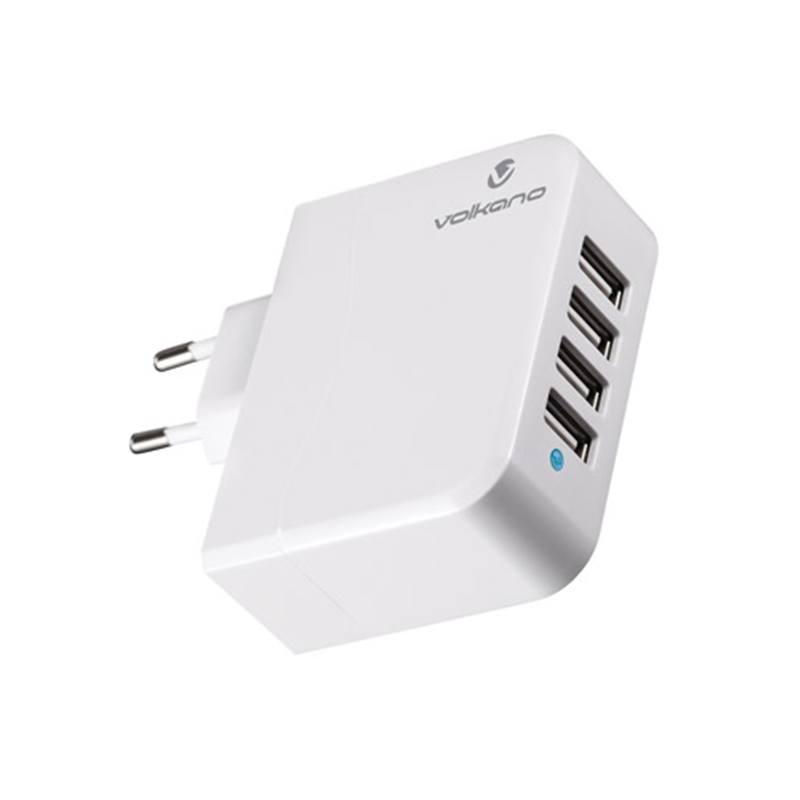 Volkano Quattro Four Port USB Wall Charger